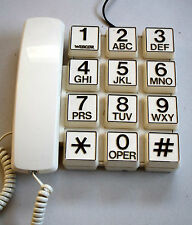 TELEFONO WEBCOR VINTAGE DESIGN ANNI 80 BIG KEYS SPAGE AGE PHONE