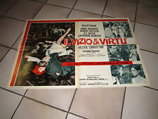 ROGER VADIM, SOGGETTONE PUTZU  1963 IL VIZIO E LA VIRTU', HOSSEIN, DENEUVE,