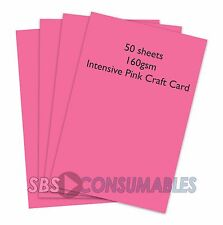 50 FOGLI a4 160gsm CLAIREFONTAINE colorata CRAFT CARD-INTENSIVE Rosa - 1017
