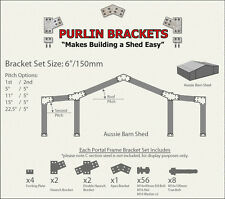 Aussie Barn Shed 6inch C Section Purlin Bracket Set-Garage-Farm-Steel Plate