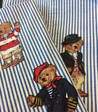 Ralph Lauren Polo Bear Lot Set Of 2 Standard Pillowcase Pillow Case Striped