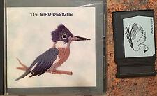 Janome Sewing Machine Memory Card #116 - 26  Bird Designs  CUTE!!