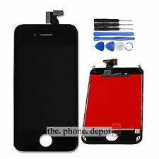 For iPhone 4S LCD Display Touch Screen Digitizer Lens Assembly Replacement Black