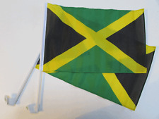 JAMAICA / JAMAICAN CAR WINDOW FLAG - 2 PACK NEW