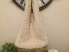 Urban Outfitters Ivory Crochet Tote Bag