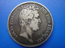 Rare 1831 France Anchor 5 Francs Silver Coin, Large Crown sized