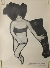 Vintage poster appearing at Gigi's nude pin-up girl cabaret strip club women