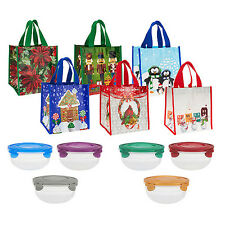 Lock & Lock Multi Shimmer 6-Unit Bowl Set with Holiday Bags (HPR140983)