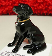 ➸ HAGEN RENAKER Dog Miniature Figurine Labrador Retriever Lab Black