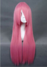"80CM/32"" Long straight Cosplay Fashion Wig heat resistant Skintop Breathable net"