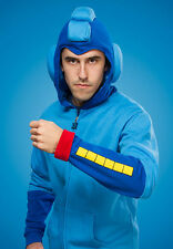 New (MEDIUM) Mega Man Hoodie Licensed Capcom Hoody Sweater Helmet Costume