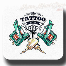 TATTOO SALON EST 1992 RETRO VINTAGE METAL TIN SIGN WALL CLOCK PERSONALIZED