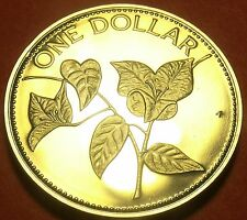 Bahamas 1985 Dollar Proof~Rare Only 7,500 Minted~Bougainvillea Flower~Free Ship