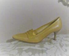 NEW TODS BEAUTIFUL BEIGE LEATHER COURT SHOES - 37.5 - 4.5