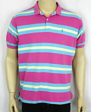 RALPH LAUREN VINTAGE PINK MENS POLO SHIRT COLLARED BUTTON UP SIZE XL (ST27)