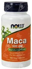 NOW Foods, puro Maca 500 MG x100caps-Virility, libido, sul sesso Drive