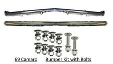 Camaro 69 Bumper Front + Rear + Bolts Chrome *In Stock* Bumpers