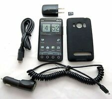 HTC EVO 4G Sprint PCS BLACK Google Android Smart Cell Phone Bluetooth PC36100 -C