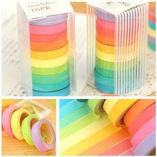 10 Ruban adhésif en papier rouleau décoratif autocollant galon masking tape