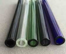 """SET OF FIVE 9mm 33 COE Boro 7"""" Glass Tubes, Pyrex, Lampwork, Blowing, Torch"""
