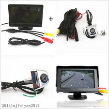 "Car Rear View Backup Reverse License Screw HD Camera+4.3""LCD TFT Display Monitor"