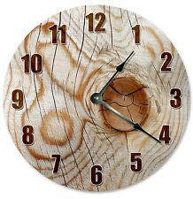 "KNOT IN WOOD Tree Clock - Large 10.5"" Wall Clock - 2184"