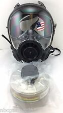 Mestel SGE 400/3 Gas Mask w/Military-Grade 40mm NATO NBC Filter exp 6/2021 Small
