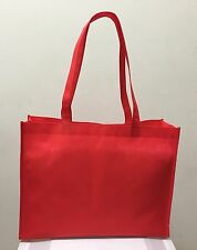 SHOPPING BAGS ECO FRIENDLY REUSABLE RECYCLABLE GIFT & PROMO BAG RED 10 PCS-MED