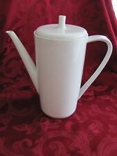 Hutschenreuther white Noblesse 3 mid century 5 cup coffee pot with lid 1966