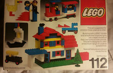 Vintage Lego 112 Systems 1976 Complete with box 06082 203 Interlocking Pieces