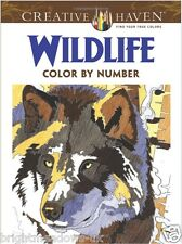 Wildlife By Number Adult Colouring Book Creative Art Wild Animals Jungle Forest
