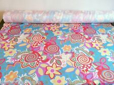 FUNKY! JAZZY! Colourful Poly Print Fabric Material SALE! FREE P&P!