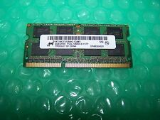 4GB Crucial DDR3 PC3 10600S 1333MHz Laptop RAM (1x  4GB modules)