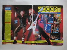 Accept Udo Wolf Hoffmann AC/DC Angus Young Brian clippings Sweden 1980s