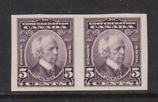 Canada #144a XF/NH Imperforate Pair