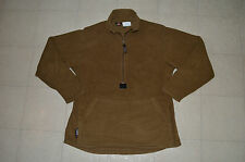 GOOD CONDITION TAN PECKHAM MADE FOR USMC POLARTEC ZIP UP PULLOVER FLEECE MEDIUM!