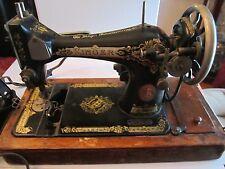 VINTAGE SINGER SEWING MACHINE - #G5786927 - BLACK & GOLD - UNKNOWN WORKING COND.