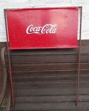 VINTAGE COKE Display-ANTIQUARIATO COCA COLA TARGA età biciclette aufstecker