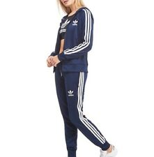 ADIDAS WOMENS NAVY BLUE TRACKSUIT - SIZE 6 / XS
