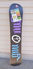2016 NWT GNU LADIES CHOICE CLUB COLLECTION SNOWBOARD 148.5CM $580 148.5cm twin
