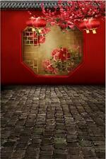 Classical Red Wall Brick Floor Background Backdrop Studio Prop 5x7ft Vinyl