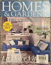 British Homes And Gardens Dream Escapes Hidden Italy August 2015 FREE SHIPPING!