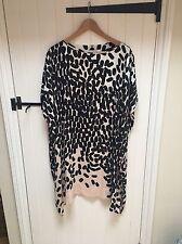 Diane Von Furstenberg Dress Nude Black Spotted Dress Size Small (8-10)