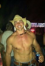 Shirtless Male Muscular Sexy Cowboy Hunk At Concert Dude PHOTO 4X6 C1542