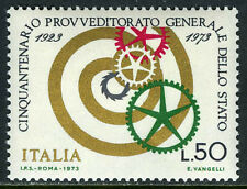 Italy 1107, MNH. State Supply Office, 50th anniv. Cogwheels, spiral, 1973