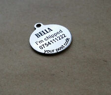 Cat Tag, Pet ID Tag,   Stainless Steel,  Laser engraved