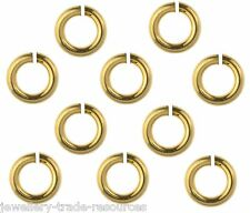 10x 14ct Yellow Gold Filled 3mm x 0.6mm Jump Rings Jewellery Making