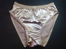 Women Panties,Briefs Bikinis size XL Beige Satin Floral W/decoration