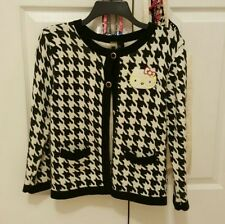 Hello Kitty Forever 21 Houndstooth Cardigan