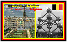 BRUSSELS, BELGIUM - SOUVENIR NOVELTY FRIDGE MAGNET - GIFT - BRAND NEW